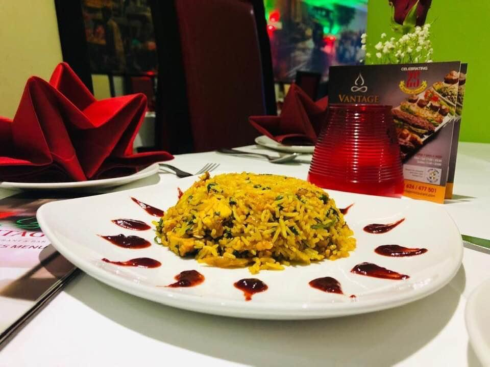 6. indian food at vantage indian restaurant  LU6