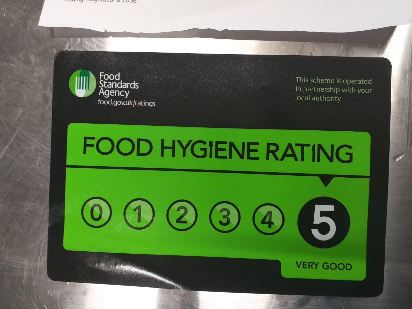 Hygiene rating Orpington Citi Kitchen  br5