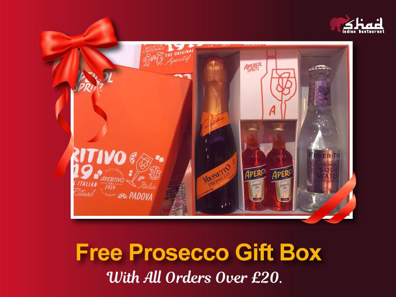 Free Prosecco Gift