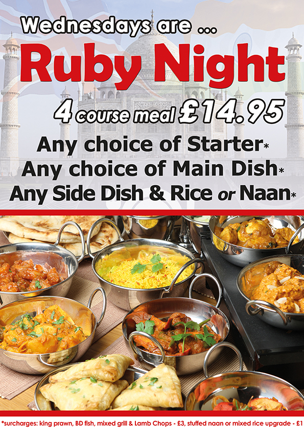 takeaway ruby night british india frinton co13