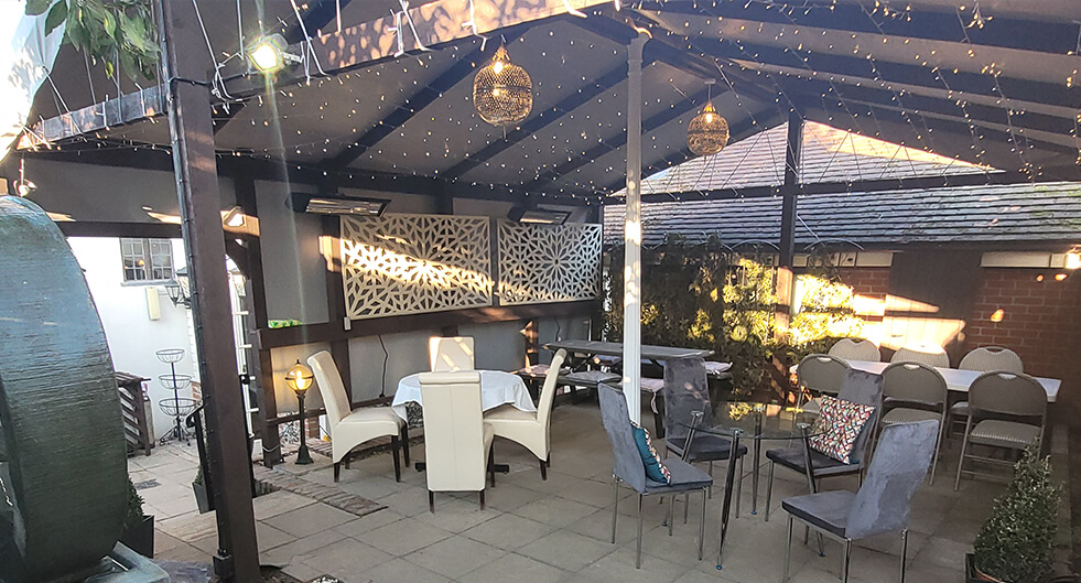 <h2 class='animated fadeInUp'>Alfresco Now Open</h2><p class='animated fadeInDown'>@ The Secret Garden of Rayaan</p>