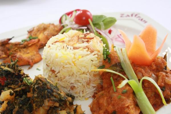 Indian curry at Zaffran One AL1